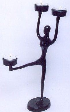 Candle-holder figurine