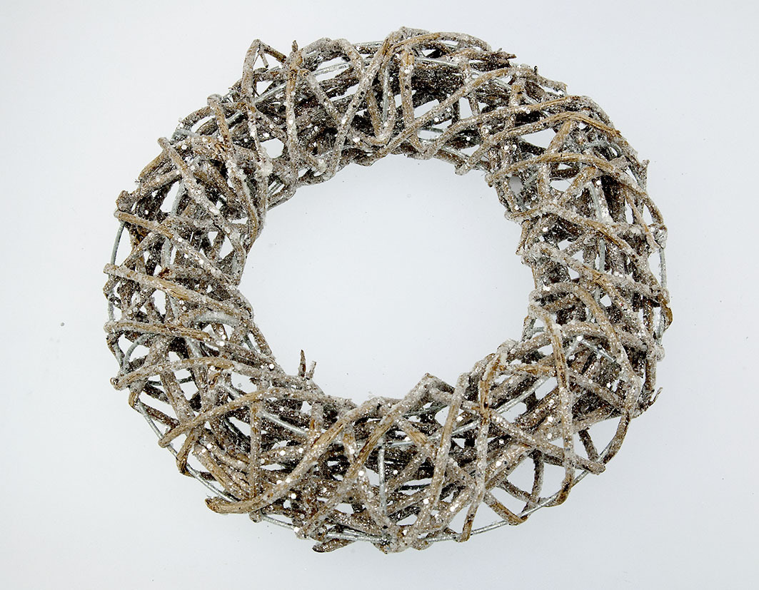 Vine wreath with mica
